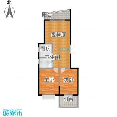 龙腾随园99.00㎡B/C03户型2室1厅1卫1厨
