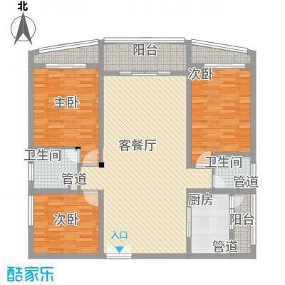 宝安滨海豪庭137.37㎡宝安滨海豪庭户型图B户型3室2厅2卫户型3室2厅2卫