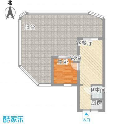 平海逸龙湾80.00㎡平海逸龙湾户型图9M型1室1厅1卫1厨户型1室1厅1卫1厨