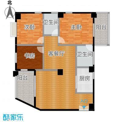 龙腾随园125.00㎡B/C01户型3室1厅2卫1厨