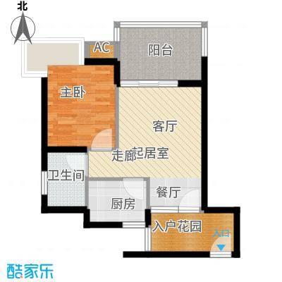 滨海18℃58.90㎡滨海18℃户型图01、041室2厅1卫1厨户型1室2厅1卫1厨