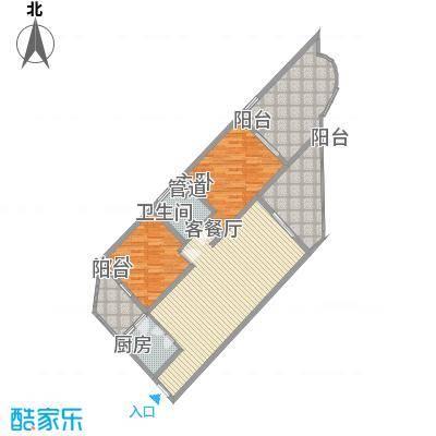 中州国际酒店121.63㎡中州国际酒店户型图B2户型2室2厅户型2室2厅