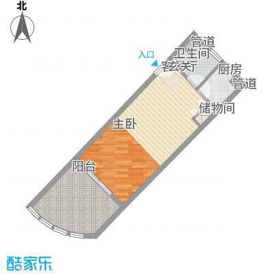 中州国际酒店59.45㎡中州国际酒店户型图A1户型1室1厅户型1室1厅