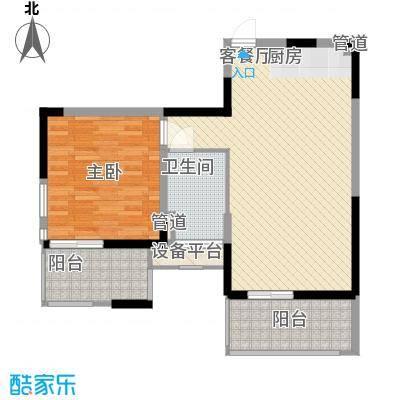 红�香水湾82.44㎡红�香水湾户型图瀚海公寓D户型1室2厅1卫1厨户型1室2厅1卫1厨