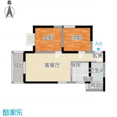 明坊82.90㎡明坊户型图3#楼标准层C3户型图2室2厅1卫1厨户型2室2厅1卫1厨