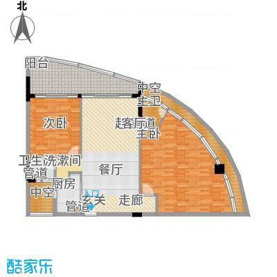 金中海蓝钻131.00㎡金中海蓝钻户型图1#A33室2厅2卫户型3室2厅2卫
