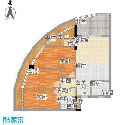 金中海蓝钻110.00㎡金中海蓝钻户型图1#A2户型图3室2厅2卫1厨户型3室2厅2卫1厨