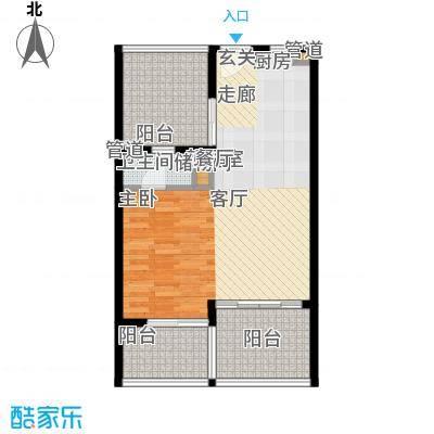 金中海蓝钻66.00㎡金中海蓝钻户型图D户型户型10室
