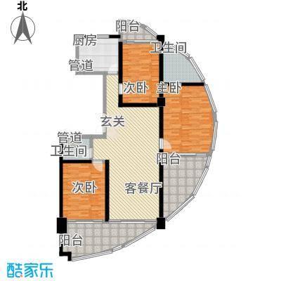 三亚湾国际公馆165.54㎡国际公馆户型图D户型3室2厅2卫1厨户型3室2厅2卫1厨