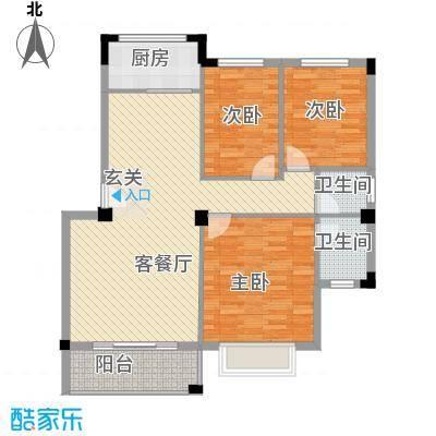 南滨花园101.26㎡南滨花园户型图B户型户型10室