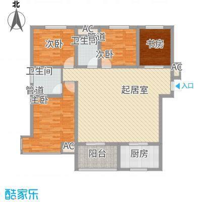 金辉天鹅湾125.00㎡金辉天鹅湾户型图美域户型图4室2厅2卫1厨户型4室2厅2卫1厨