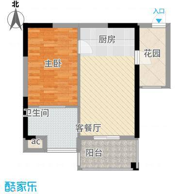 世嘉海景公寓43.00㎡世嘉海景公寓1室户型1室