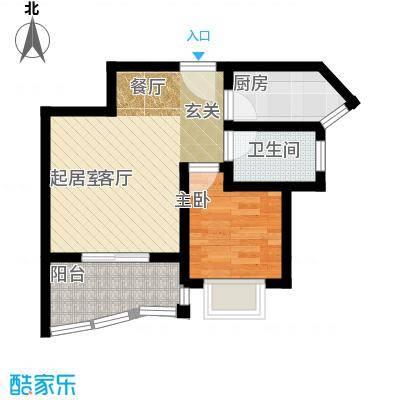 公园壹号51.99㎡公园壹号户型图d户型图1室1厅1卫1厨户型1室1厅1卫1厨