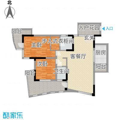 鲁能三亚湾美丽三区20101215105724603户型2室2厅1卫1厨