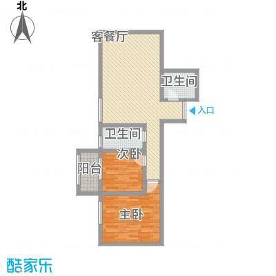 上水观园94.24㎡上水观园户型图E户型2室2厅1卫1厨户型2室2厅1卫1厨