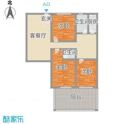 凤航大厦172.20㎡凤航大厦户型图3室2厅1卫1厨户型10室