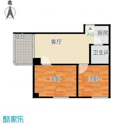中天海景65.00㎡户型2室1厅1卫