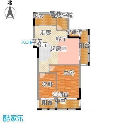 万城春天75.15㎡万城春天户型图5,6,7号楼-D-3户型2室2厅1卫户型2室2厅1卫