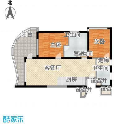 隆源神州半岛128.00㎡隆源神州半岛户型图E户型2室2厅2卫户型2室2厅2卫