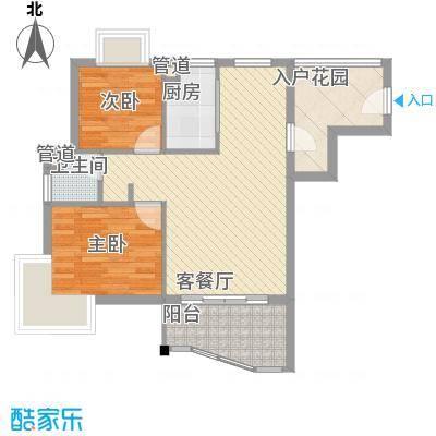 顺泽玲珑湾D户型2室2厅1卫