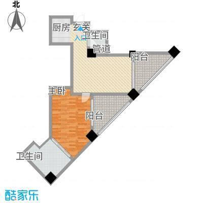 国际公寓99.25㎡国际公寓户型图套房1室1厅1卫户型1室1厅1卫