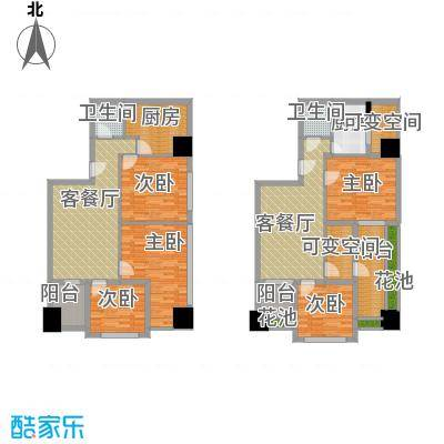 衍宏康馨花园2期89.57㎡C户型5室2厅2卫2厨
