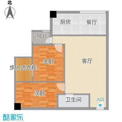 衍宏康馨花园2期81.60㎡B户型2室2厅1卫