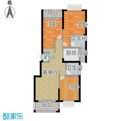 翠玉园新区131.61㎡5#楼B01户型3室1厅2卫1厨
