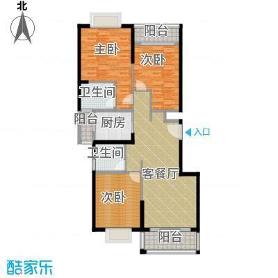 翠玉园新区131.66㎡5#楼B02户型3室1厅2卫1厨