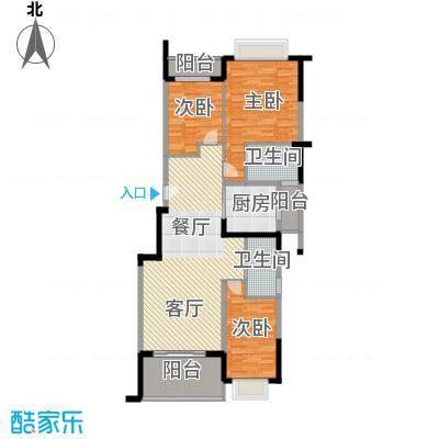 翠玉园新区130.42㎡6#楼B03户型3室1厅2卫1厨