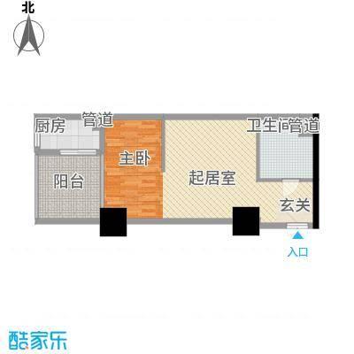 太阳岛公寓64.90㎡太阳岛公寓户型图F1/F2户型图1室2厅1卫1厨户型1室2厅1卫1厨