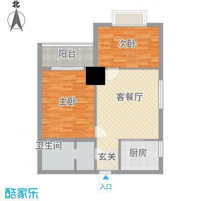 太阳岛公寓太阳岛公寓户型图C1-C4户型图2室2厅1卫户型2室2厅1卫