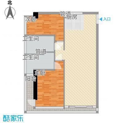 双大国际公馆106.59㎡双大国际公馆户型图10-20层b22室2厅1卫1厨户型2室2厅1卫1厨