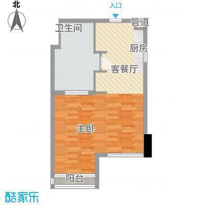 双大国际公馆60.16㎡双大国际公馆户型图10-20层a31室1卫1厨户型1室1卫1厨