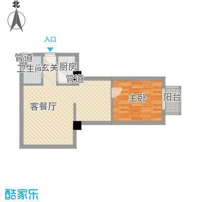 中央公寓61.92㎡中央公寓户型图C户型1室2厅1卫1厨户型1室2厅1卫1厨