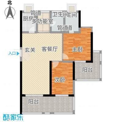 年轮118.00㎡年轮户型图A1户型2室2厅2卫户型2室2厅2卫