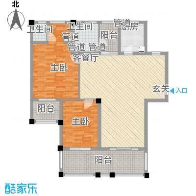 年轮132.00㎡年轮户型图A3户型2室2厅2卫户型2室2厅2卫