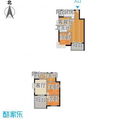 五指山海建・瑞景山庄139.95㎡F复式户型3室2厅2卫1厨