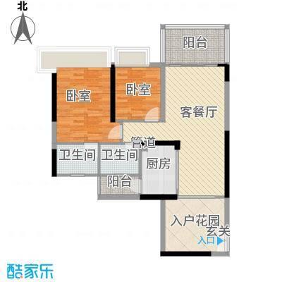 鸿洲时代海岸西区99.82㎡鸿洲时代海岸西区户型图A1户型2室2厅2卫户型2室2厅2卫