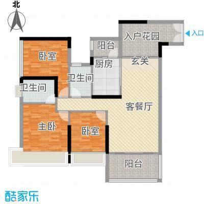 鸿洲时代海岸西区129.86㎡鸿洲时代海岸西区户型图D1户型3室2厅2卫户型3室2厅2卫