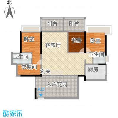 鸿洲时代海岸西区171.66㎡鸿洲时代海岸西区户型图D2户型3室2厅2卫户型3室2厅2卫
