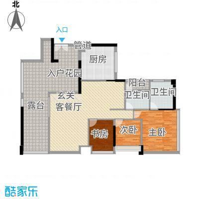 鸿洲时代海岸西区154.21㎡鸿洲时代海岸西区户型图D3户型3室2厅2卫户型3室2厅2卫