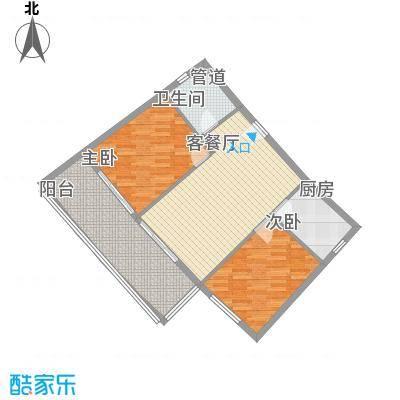 棕榈半岛国际公寓88.92㎡棕榈半岛国际公寓户型图a2-2D户型图2室1厅1卫1厨户型2室1厅1卫1厨