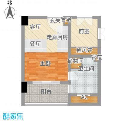 百运阁户型图4 2室2厅1卫1厨