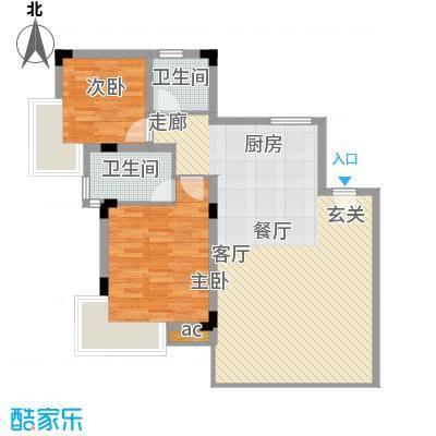 中信博鳌千舟湾中信博鳌千舟湾户型图C户型度假公寓2室2厅2卫户型2室2厅2卫