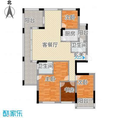 三亚美丽之苑 4室 户型图