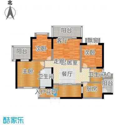 金鸡岭花园山庄125.00㎡金鸡岭花园山庄3室户型3室