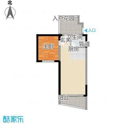 博鳌海御78.00㎡博鳌海御户型图E-01户型1室2厅1卫1厨户型1室2厅1卫1厨