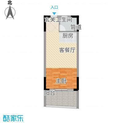 博鳌海御53.00㎡博鳌海御户型图E-02户型1室1厅1卫1厨户型1室1厅1卫1厨