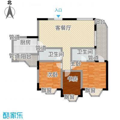 椰海滨江122.64㎡椰海滨江户型图B户型图3室2厅2卫1厨户型3室2厅2卫1厨